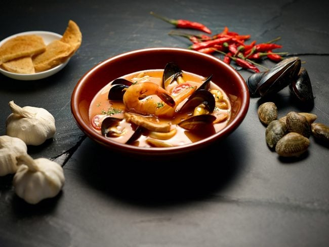 Hospitality food photography for Gemma's Italian food restaurant, mussels, in Shanghai, China. Shanghai photographer with studio creates hospitality hotel, food and travel photography for advertising and marketing materials.