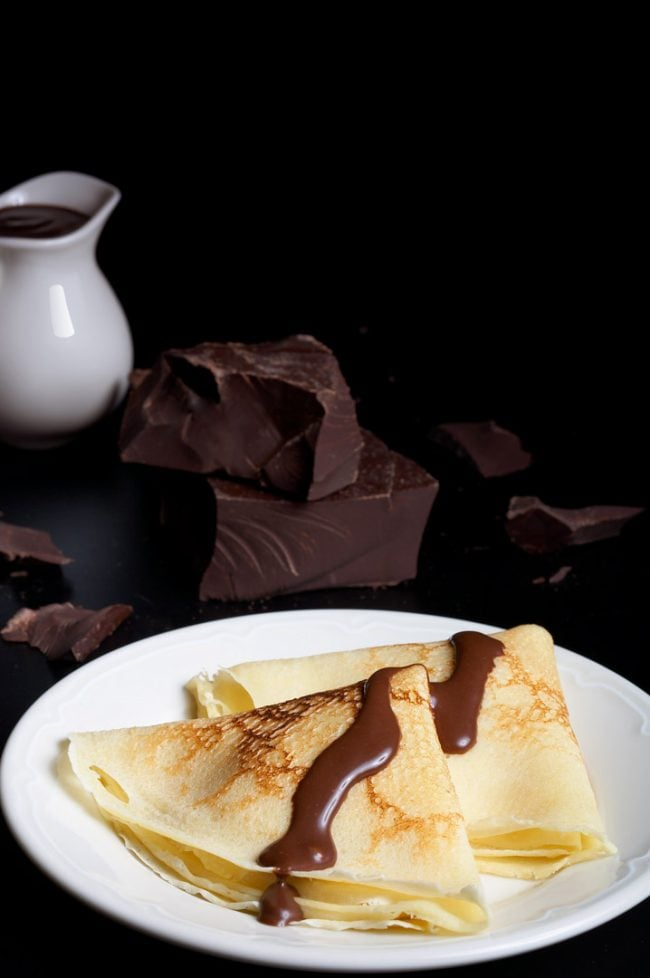 Hospitality food photography for Paul's Bakery, chocolate crepes, in Shanghai, China. Shanghai photographer with studio creates hospitality hotel, food and travel photography for advertising and marketing materials.