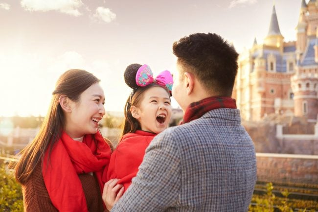 One of a series of images that were captured for Shanghai's Disney Resort Chinese New Year campaign. Shanghai photographer with studio creates lifestyle fashion photography for advertising and marketing materials.