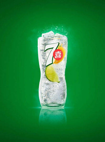 Shanghai studio food and beverage still-life product Key Visual images for Pepsi Co's 7up. Shot in-studio, in Shanghai. Shanghai photographer with studio creates campaign and KV imagery for advertising and marketing materials.