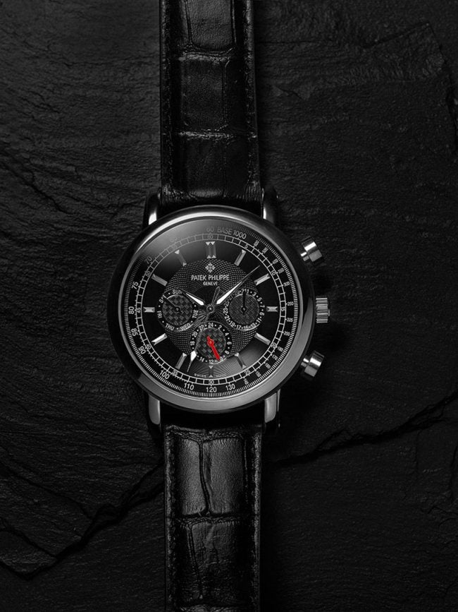 Shanghai studio watch still-life key visual products photos with Patek Philippe. Shot in-studio, in Shanghai. Shanghai photographer with studio creates still-life campaign and KV imagery for advertising and marketing materials.