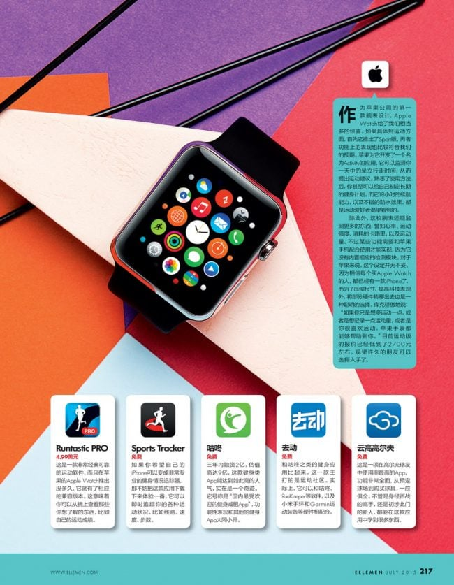 Shanghai studio electronics still-life editorial for ELLE Men China magazine products. Apple iWatch. Shot in-studio, in Shanghai. Shanghai photographer with studio creates cosmetics still-life imagery for advertising and marketing materials.